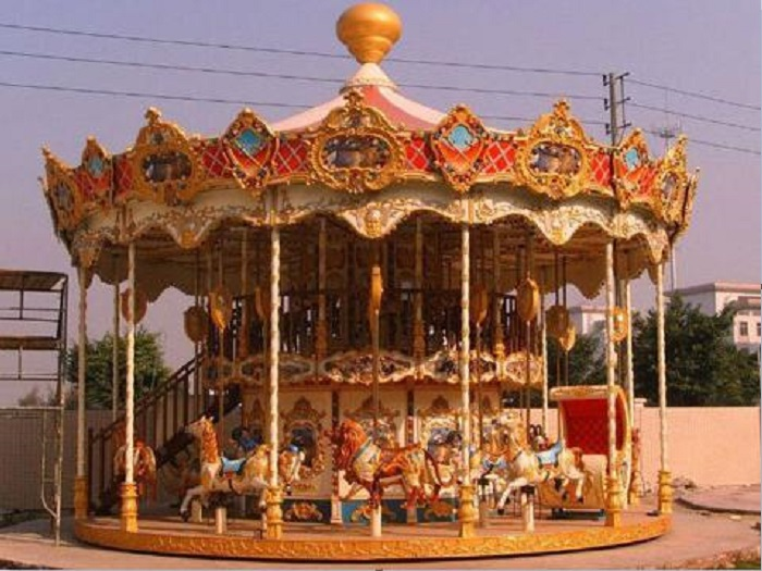 Beston amusement double deck carousel for sale