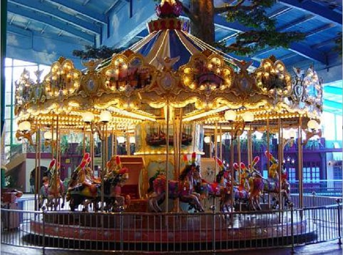 Beston amusement kiddie carousel for sale