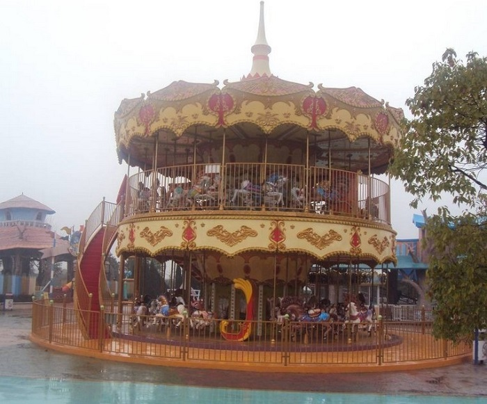 Beston deluxe double deck merry go round for sale