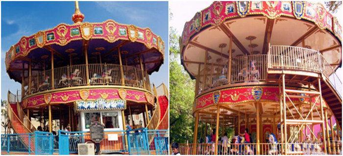 Beston deluxe double decker carousel for sale