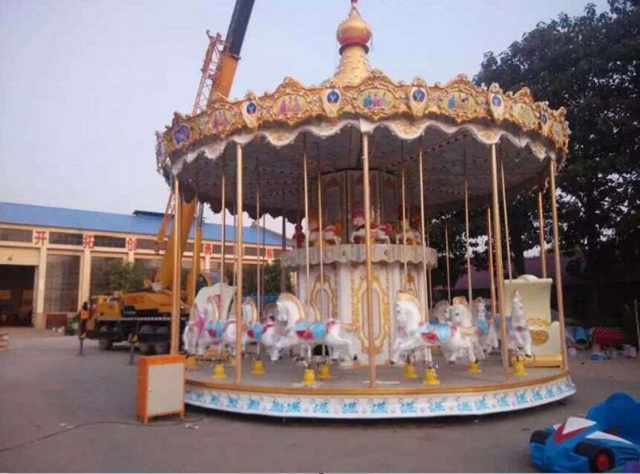 Beston double deck carousel ride for sale BNCR-101