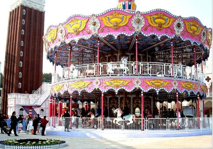 Beston double deck merry go round for sale