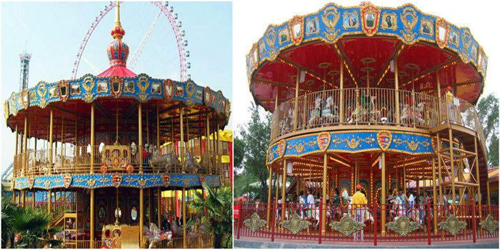 Beston double decker carousel for sale