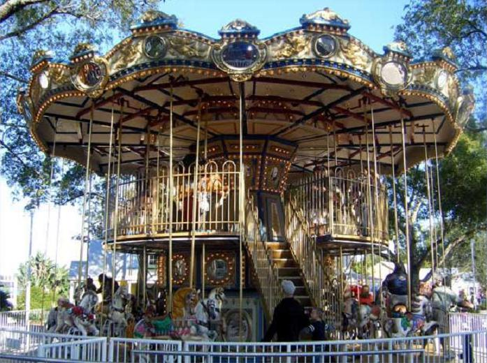 Beston grand double deck merry go round for sale