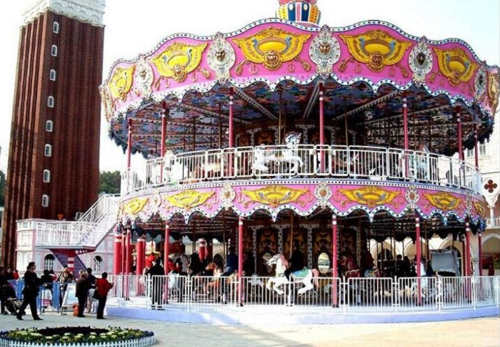 Beston kiddie double deck carousel for sale