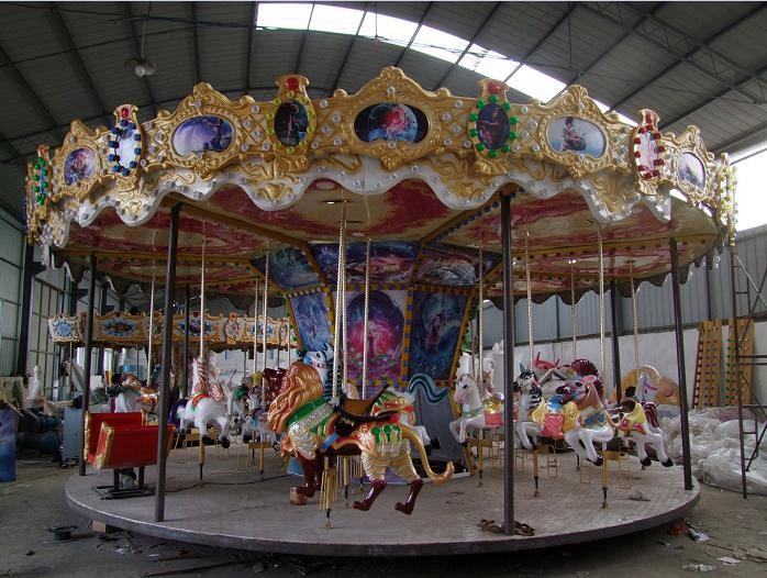 Beston antique menagerie carousel ride for sale