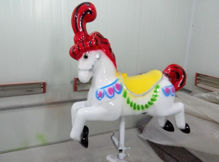 Beston mini red carousel horse for sale