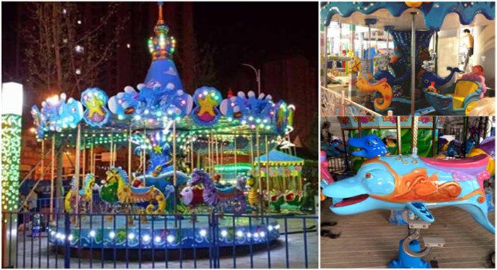 Beston ocean theme seahorse carousel for sale