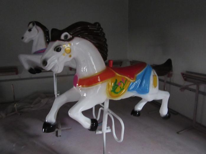 Beston small black carousel horse for sale