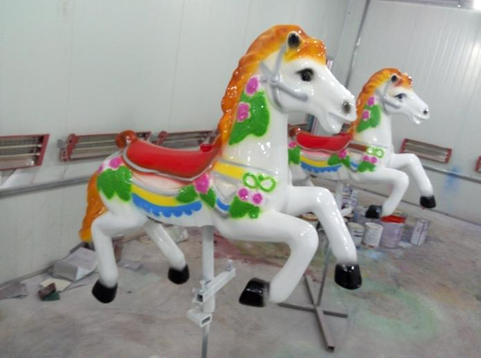 Beston small orange carousel horse for sale