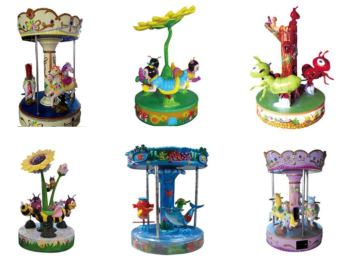 Beston three seats mini carousel for sale