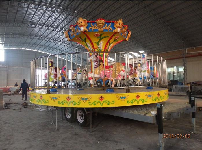 Beston vintage merry go round with trailer for sale