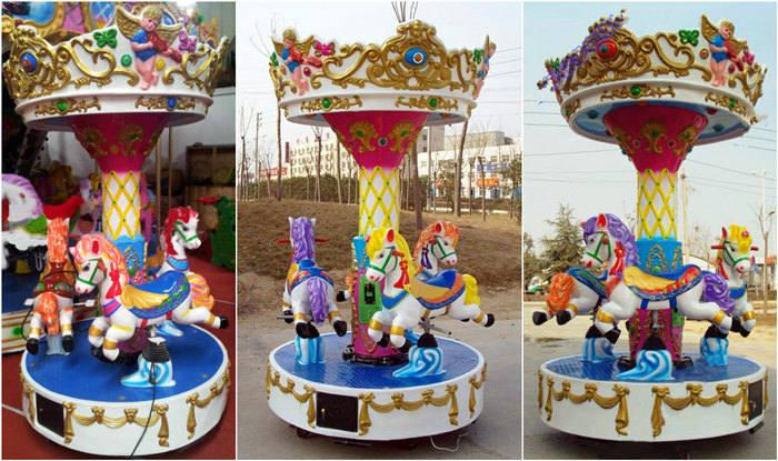 Beston 3-seat coin operated carousel kiddie rides for sale