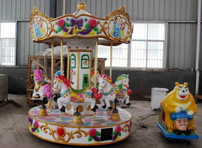 Beston 6 seats coin operated carousel for sale BNCR-140