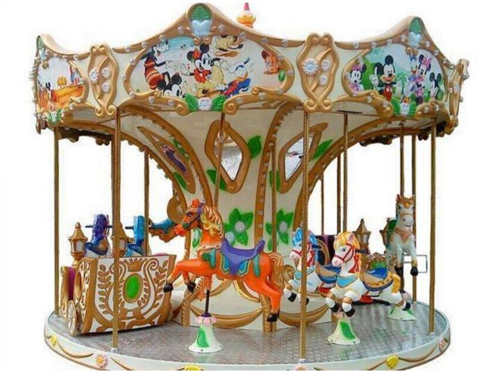 Beston 8-seat coin op kids carousel ride for sale