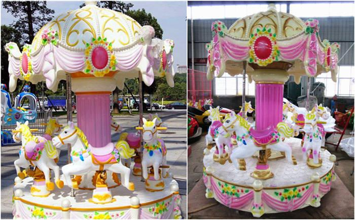 Beston mini coin operated carousel for sale