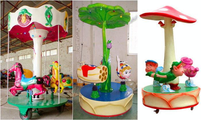 Beston mini coin operated kiddie carousel ride for sale