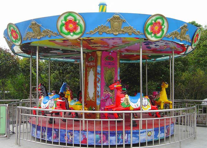 Beston mini coin operated kiddie carousel for sale
