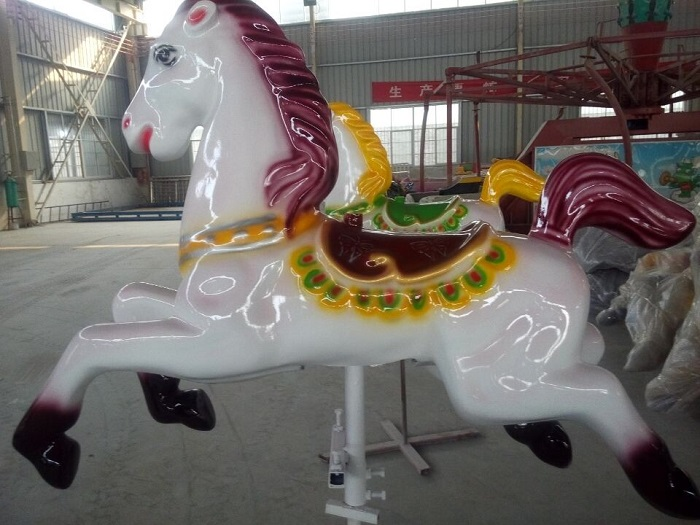 Beston white deluxe carousel horse for sale